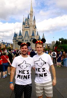 Celebrating love! ♡ | gay love | couple shirts | he's mine | disney pride | costume t-shirts | amor | disney world | love is love | noh8 | love is louder |