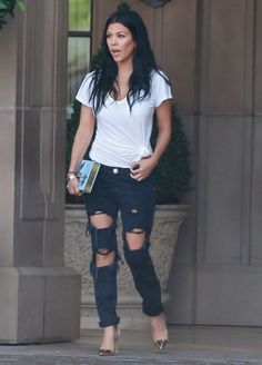 Kourtney Kardashian One Teaspoon Freebirds Jeans London 1