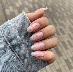 10 Creative Nail Designs for Short Nails to Create Unique Styles Cute Almond Nails, Short Almond Nails, Almond Shape Nails, Almond Acrylic Nails, Best Acrylic Nails, Nails Shape, Short Nails, Short Almond Shaped Nails, Natural Almond Nails