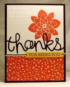 See Julie Stamp - Julie Wadlinger, Stampin' Up! Demonstrator : Swap: Cards in the Mail - Crazy About You