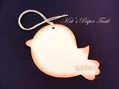 Baby Shower Wish Tree Tags - Off White Paper Bird - Set of 20 - Made to Order on Etsy, $15.00