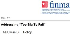FINMA - The Swiss SIFI policy