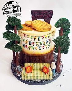Things can always get a bit STRANGER around here.... I'm kind of a nerd, so of course, I found a way to sneak this fun Stranger Things cake into my competition line-up for OSSAS this year. It took FIRST PLACE in the special occasion cake category. (Even after my kid ate the handset off the telephone without me noticing. ) I made my own mold for the waffles with an awesome homemade Amazing Mold Putty recipe. (I'll be sharing that with you soon!) The wallpaper was hand painted with…