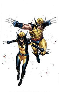 Wolverine(Logan) and X-23(Wolverine)