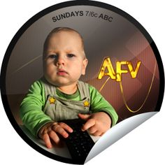 Steffie Doll's America's Funniest Home Videos Superfan Sticker Afv Videos, America's Funniest Home Videos, Stickers, Video Clip, More Fun, Scary, Humor, People, Humour