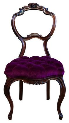Purple Victorian balloon chair