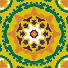 Designer Fabric by the Yard - Modern Suzani Print