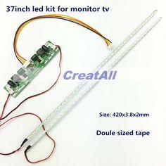 37inch 7020 LED Aluminum Plate Strip Backlight Lamps Update Kit for LCD Monitor TV Panel 2 LED Strips 420mm