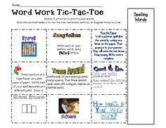 These are templates you can use to allow for variety when doing word work. You can use them as homework, too.  You may use any words you want. Gr...