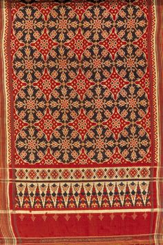 "Indian, ""Patola Sari,"" 1830-1860; Indianapolis Museum of Art, Emma Harter Sweeter Fund, 82.12"