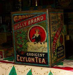 Holly Tea tin