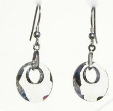 Life Earrings - Clear Crystal - Crystal Pulse Store