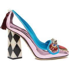 Pumps ($775) ❤ liked on Polyvore featuring shoes, pumps, multicolor, colorful shoes, dolce gabbana shoes, jeweled shoes, multi coloured shoes and colorful pumps