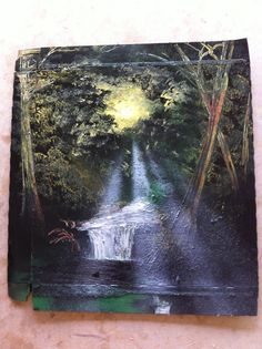 Spray paint art - trees