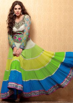 Unstitched Indian Churidhar.