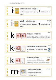 Doelkaarten per dag voor Kern start t/m Kern afsluiting - jufbijtje.nl