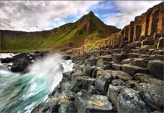 The Giants Causeway - Antrim, Northern Ireland. The 'discovery' of the causeway was announced in a paper to the Royal Society in 1693. At that time, there was furious debate over whether the causeway had been created by men with picks and chisels, by nature, or by the efforts of a giant called Finn McCool. The scientific version is that the causeway was formed by lava. Giants causeway is indeed something to be witnessed and the surroundings are breathtakingly wonderful. Destination: the…