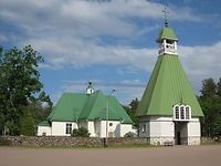 Virolahden kirkko , hautausmaa ja Pitäjäntupa