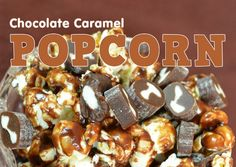 Chocolate Caramel Popcorn Recipe #CowTales