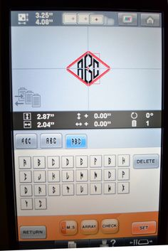 Direct Monogramming on the screen