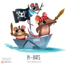 Daily Paint 1542. Pi-rats by Cryptid-Creations Time-lapse, high-res and WIP sketches of my art available on Patreon (:Twitter • Facebook • Instagram • DeviantART