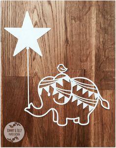 Elephant & Bird SVG PDF Design - Papercutting Vinyl Template Commercial Use - nursery papercut - new baby papercut