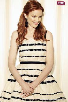 Bree Van de Kamp de Mujeres desesperadas temporada cinco. Actriz Marcia Cross.