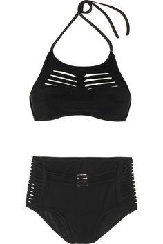 JETS BY JESSIKA ALLEN WHITE LABEL  Ultimate laser-cut molded bikini  $380