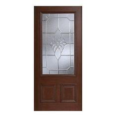 Main Door 36 in. x 80 in. Mahogany Type Prefinished