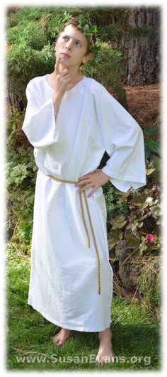 How to make a simple Greek costume - http://susanevans.org/blog/bible-costume-in-five-minutes/