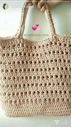 Me encanta dar explicación cómo sé asen - Crochet Market Bag, Crochet Tote, Crochet Handbags, Crochet Purses, Free Crochet, Bag Pattern Free, Tote Pattern, Crochet Purse Patterns, Crochet Stitches