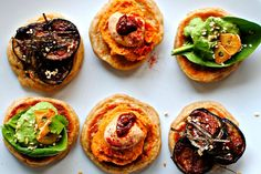 Blinis with Three Awesome Vegan Toppings - Japanese, Chinese and Moroccan #newyearseve