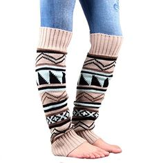 Funbase Women Boho Winter Knitted Crochet Leg Warmers Trim Boot Cuffs Socks Beige * Be sure to check out this awesome product. Leg Warmers For Women, Crochet Leg Warmers, Knit Crochet, Crochet Shoes, Soft Legs, Knit Boots, Wool Socks, Long Boots, Women's Socks & Hosiery