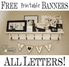 Links to lots of printable letters & banners