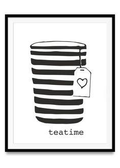 Teatime Poster 29,7 x 42 cm | Ulrike Wathling