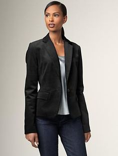 """Talbots Kate Fit Velveteen jacket.  I have something similar that I may bring for the aforementioned """"fancy night""""."""