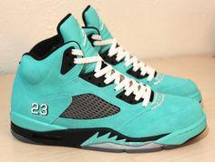 low priced 6dfa3 6ee60 Air Jordan 5 Tiffany Tiffany Blue Shoes, Custom Jordans, Custom Sneakers,  Custom Shoes