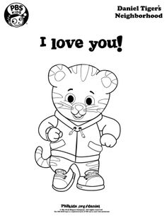 show someone you love them with a coloring of daniel tiger - Daniel Tiger Coloring Pages