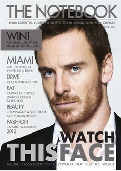 Watch This Face (that's all anybody is doing!) - http://content.yudu.com/Library/A1v5u4/TheNotebookMagazine2/resources/index.htm?referrerUrl=http://free.yudu.com/item/details/456705/Michael-Fassbender