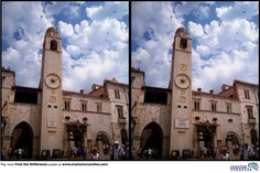 Give your #brain a little work-out this afternoon with this Find the Difference #puzzle taken in Dubrovnik, Croatia. Play more puzzles at http://craniumcrunches.com/playgame.php?id=8