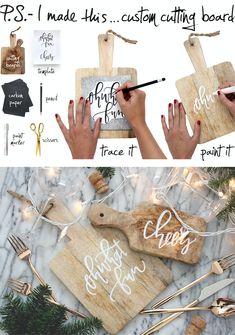 P.S.- Make a custom cutting board