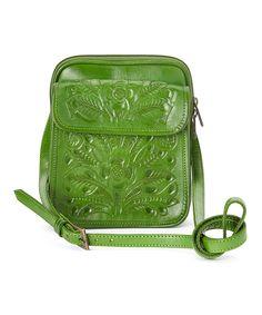 Look at this #zulilyfind! Green Paige Leather Crossbody Bag by Adam Alexis #zulilyfinds