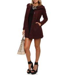 Burgundy Wintertime Fleece Jacket
