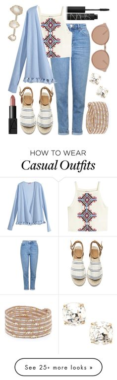 """""""Casual Summer Date"""" by kk-purpleprincess on Polyvore featuring Kate Spade, Topshop, H&M, Calypso St. Barth, NARS Cosmetics, Linda Farrow Luxe, Chan Luu and Kendra Scott"""