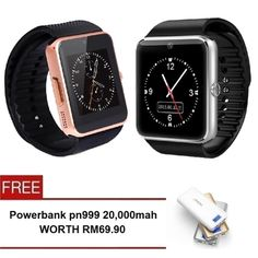 Buy GT08 SmartWatch Wearables Smart Watch with Hands Free Call - 2 Set(Gold/Silver) + Free Powerbank PN999 20,000mah online at Lazada. Discount prices and promotional sale on all. Free Shipping.