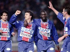 Raï, David Ginola, George Weah et Paul Le Guen (PSG)