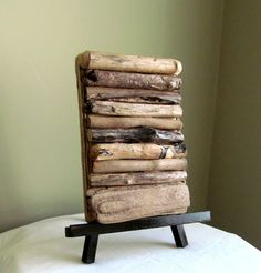 Driftwood Art Display with Easel Driftwood Art by DriftingConcepts, $18.95