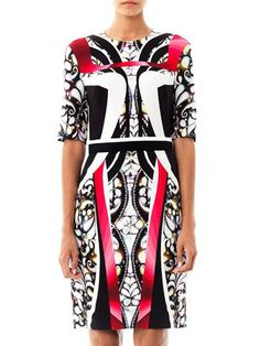 Peter Pilotto - Eva panelled-print dress
