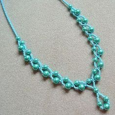 pearl and seed bead necklace
