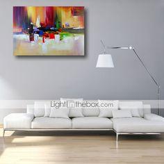Peint à la main Abstrait Peintures à l'huile,Moderne Un Panneau Toile Peinture à l'huile Hang-peint For Décoration d'intérieur de 4644398 2017 à €44.14